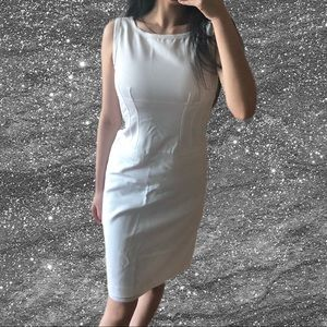 🔥 Hugo Boss White exposed zipper dress